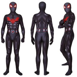 $enCountryForm.capitalKeyWord NZ - Black 3D Muscle Superhero Suit Spider Cosplay Costume Halloween Lycar Spandex Zentai Bodysuit Catsuit Jumpsuit Battle Uniform