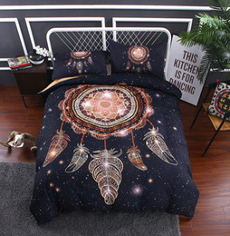 $enCountryForm.capitalKeyWord Australia - Bohemian Duvet Cover Set Queen (1 Duvet Cover+2 Pillow Shams), Dream catcher Exotic Pattern Boho Bedding Sets