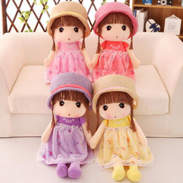 doll girl Australia - New Plush toys Cute Princess Dolls Stuffed Animals Little Girl Child Birthday Gift plush toys wholesale