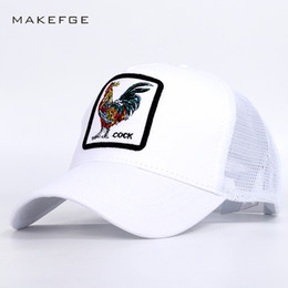 4223d77cfc92c Black yellow pink hats online shopping - 2019 Fashion Cock Embroidery Mesh  Baseball Caps Summer High