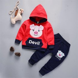 Cute Outfits For Spring Australia - good quality spring baby boys clothing sets casual cartoon hoodies clothes sport suits outerwear outfits tracksuit clothing for bebe