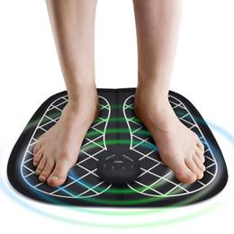 Großhandel Elektrische EMS FußMassager ABS Physiotherapie Revital Pediküre Tens Fuß Vibrator drahtlose Feet Muskelstimulator Unisex