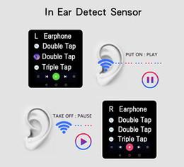 Film sensor online shopping - 2019 high quality newets i1000 tws Smart sensor Wireless Earphone Touch film voic6D Super Bass W1 H1 Chip pop up headphones for indpods i500