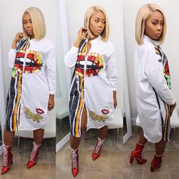 $enCountryForm.capitalKeyWord Australia - Summer Spring Women Dresses Casual Funny Pattern Print Shirt Dress Ladies Long Sleeve Skirt 6 Colors