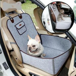 Used Cat Australia - Pet Car Seat Cover Dual Use Felt Cloth Dog Seat Cover Outdoor Traveling Waterproof Anti-Slip Dog House Mat Cat Carrier 20pcs OOA6313