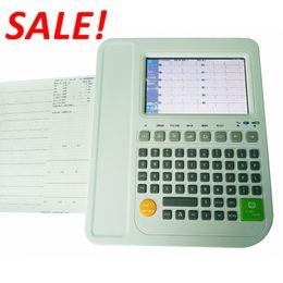 En İyi Satış! Dijital 12 kanallı EKG makinesi yorumlu, Elektrokardiyograflı EKG Makinesi, CE ve ISO ile birlikte ücretsiz gemi EKG Cihazı indirimde