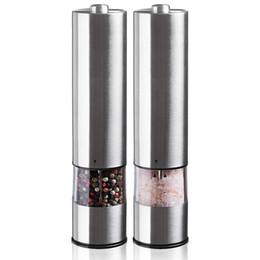 Metal Milling Tools Australia - Electric Stainless Steel Pepper Spice Grinder Seasoning Mill Kitchen Accessory Mill And Salt Grinder Seasoning Kitchen Tools Grinding