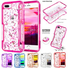 Silicone Waterproof Wallet Australia - Defender Liquid Glitter Cases rugged shockproof waterproof For iphone 7 iphone x xs max Samsung j3 2018 j7 2018