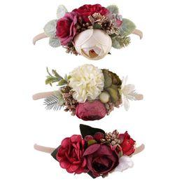 Chinese  Europe and America baby headdress headband headband child camellia garland seaside holiday simulation flower hair band manufacturers