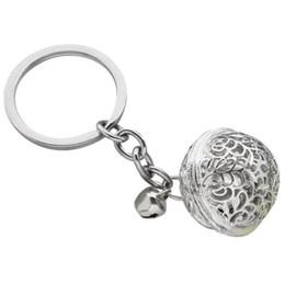$enCountryForm.capitalKeyWord Australia - Good Quality Gold Color Small Jingle Bell Key Chains Key Rings Souvenir Creative Gift for Car Key Women Girl Bag KeyChains