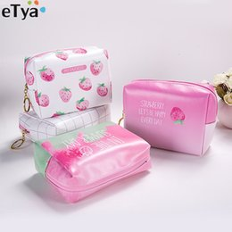$enCountryForm.capitalKeyWord Australia - Travel Women Cosmetic Bags Cute Pink Strawberry Small Waterproof Makeup Bag Organizers Lady Pouch For Make Up