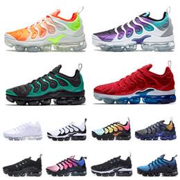 size 40 d71ce 0e425 Air 2019 TN Maxes Plus Volt Men Designer Shoes Retuned Olive Metallic Silver  Hyper Violet BETRUE Photo Blue Sports Sneakers Running Trainers