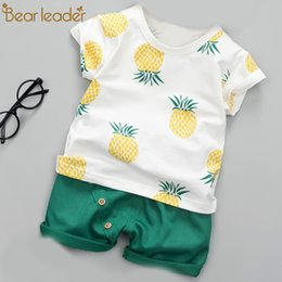 Discount t shirts for toddlers - Toddler Boy Clothes Set Summer Cotton Fruit Printed Sport Suit for Boy Kids Baby Clothes Set T-shirt and Shorts