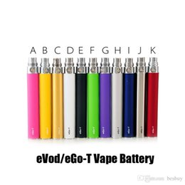 Nautilus miNi vape online shopping - EVOD EGO T E Cigarette mAh mAh mAh Vape Battery For Ego Thread CE4 MT3 Mini Protank Nautilus Mini Tank Atomizers