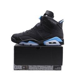 Chinese  UNC 6 Mens Basketball Shoes 6s Black University Blue Women Sports Sneakers size 5.5-13 with BOX Free Shipping manufacturers