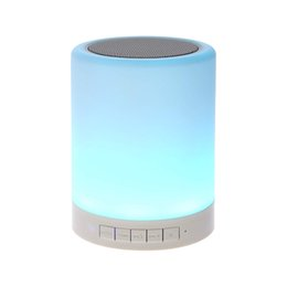$enCountryForm.capitalKeyWord UK - Night Light with Bluetooth Speaker Portable Wireless Bluetooth Speaker Touch Control Color LED Bedside Table Lamp
