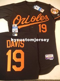 47c943ab6 Cheap custom Majestic Baltimore  19 CHRIS DAVIS Top BLK Game Jersey BLOWOUT Mens  stitched jerseys Big And Tall SIZE XS-6XL For sale