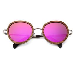 Chinese  Luxury-2019 Round Wooden Sunglasses Men Women Brand Design Fashion Ultralight Oversize Sun glass Polarized Lens Uv400 manufacturers