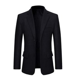 Wholesale new men black slim fit suit for sale - Group buy Men s New Style Turn down Collar Long Sleeve Casual Suit Slim Fit Coat Jacket