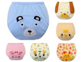 Wholesale Baby New Cotton Wild Six color Optional Small Animal Shapes Cute Pants Learning Training Pants kg