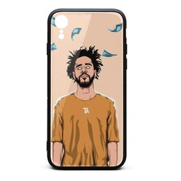 Iphone Money NZ - IPhone XR Case J Cole Money poster 9H Tempered Glass Back TPU Bumper Shockproof Phone Case