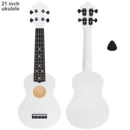 Chinese  Sale 21 Inch Soprano Ukulele 15 Fret ABS Material 4 Strings Hawaii Guitar with Pick for Kids and Beginner manufacturers