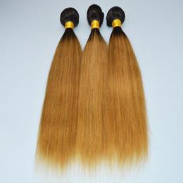 Wholesale OC 905 Brazilian Human Virgin Hair Straight Gradient color 1b 27#brown POCHETTE FELICIE Wigs Long Hair Curtain Free Shipping