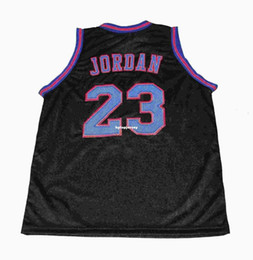 4b842798f212 Cheap Mens BLACK CUSTOM NAME  23 MICHAEL TUNE SQUAD SPACE JAM MOVIE JERSEY  BK CUSTOM NAME