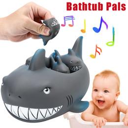 $enCountryForm.capitalKeyWord NZ - Shrilling Rubber Cute Shark Family Bathtub Pals Floating Bath Tub Toy For Kids Rubber Bathroom Play Animals Bath Figure Toy