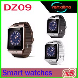 dz clock NZ - Original DZ09 Smart watch Bluetooth Wearable Devices Smartwatch For iPhone Android Phone Watch With Camera Clock SIM TF Slot ZY-DZ-9