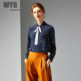 4f7f32e628406c Royal Silks Australia - Royal Blue Silk Blouses and Shirts 2019 Spring  Summer Top Quality Canada