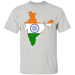 Wholesale India Flag and Country Outline National Pride TShirt Punjab Mumbai Pune Men Women Unisex Fashion tshirt