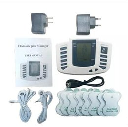 electrical stimulator Canada - Electrical Stimulator Full Body Relax Muscle Therapy Massager Massage Pulse tens Acupuncture Health Care Machine 16 Pads by DHL