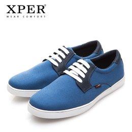 XPER Marca Primavera Otoño Nueva Moda Hombres Zapatos Cómodos Hombres Zapatos Casuales de Lona Hombres Zapatillas de Deporte Transpirables XAF86D11 en venta