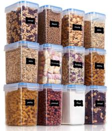 Großhandel Airtight Lebensmittel Lagerbehälter 12 Stück 1.5qt / 1L- kleines Plastik PBA Freie Küche Speisekammer Vorratsbehälter für Zucker, Mehl und Bakin