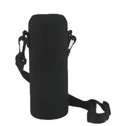 Discount wholesale hydration packs - 2017 600ML Neoprene Water Bottle Shoulder Carrier Drink Sport Accessories