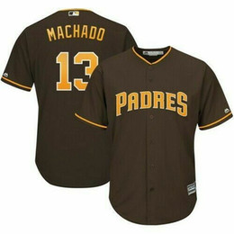 cheap cool base jerseys UK - Cheap custom Men's #13 Manny Machado Brown Cool Base Jersey Stitching personality customization any name number XS-5XL