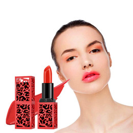 $enCountryForm.capitalKeyWord Australia - Dark red blood red charm makeup matte waterproof velvet lipstick 6 colors sexy gloss lip beautiful lips Chinese