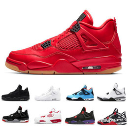 a87fb6517b1ec4 Wholesale Singles Day 4 4s basketball shoes Raptors Tattoo Travis Scott x 4s  HOUSTON Cactus Jack Thunder mens trainers sneakers 7-13