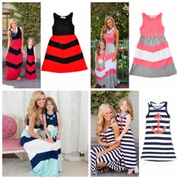 Mother And Daughter Clothes Parent-child Jumpsuit Family Matching Outfits Baby Girl Clothes Navy Blue Superior In Quality