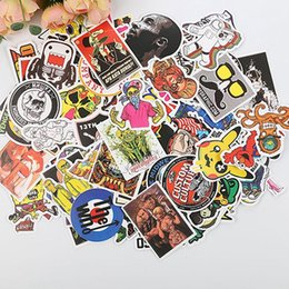 Cartoon Laptop Stickers Australia - Wall Stickers Suitcase Skateboard Motorcycle Stickers Laptop Waterproof DIY Cartoon Sticker PVC Waterproof Stickers 100pcs lot DH0922