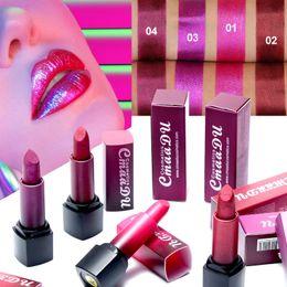 Lipstick Lasts Australia - Cmaadu lip makeup color change glitter lip gloss waterproof long lasting high shimmer matte liquid lipstick 4 colors dhl Free Shipping