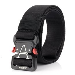 China New Quick Release Girdle Outdoor Tactical Nylon Belt Army Gear Male Metal Buckle Heavy Duty Belt Camo Cinturon Wide 5CM cheap new tactical gear suppliers