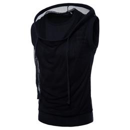 $enCountryForm.capitalKeyWord UK - 2019 New Summer T Shirt Mesh Shirt Sleeveless Hip Hop T Shirts White Black O-neck Top Brands Men's T-shirts Dropshipping Nz484