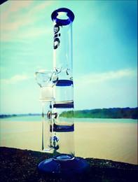 "$enCountryForm.capitalKeyWord Australia - Zeusart 10.5""Glass Bong Straight Water Pipe Triple Layer Honeycomb Perc Oil Burner Tobacco Pipes Glass Recycler Heady Oil Dab Rig Bongs"