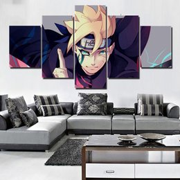 $enCountryForm.capitalKeyWord Australia - Framework Art Posters Prints Painting Canvas HD Wall 5 Pieces  Pcs Animation Naruto Modular Pictures For Living Room Home Decor