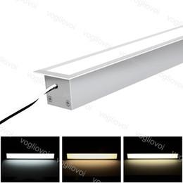 Lampada a barre LED DC12V 1M alluminio SMD2835 con coperchio lattiguo Lampada dura per esposizioni DHL DHL in Offerta