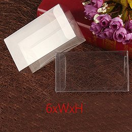 $enCountryForm.capitalKeyWord Australia - 50pcs 6xWxH Plastic Box Storage PVC Box Clear Transparent Boxes For Gift Boxes Wedding Tool Food Jewelry Packaging Display DIY