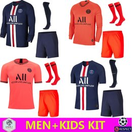 Wholesale Soccer Jersey PSG Air Jordan Camisa de Futebol Paris Saint-Germain PSG Notre Dame 2019 Camisa de Futebol 2020 PSG 98 Paris Simone Okocha MEN KIDS SET