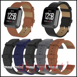 leather fitbit strap UK - New Genuine Real Leather Wrist band Sport Watch Strap Bracelet For Fitbit Versa Lite Blaze Smart Watch Straps Wriststrap Watchbands